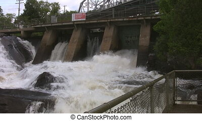 Bracebridge Falls - Waterfalls located at the Silver Bridge...