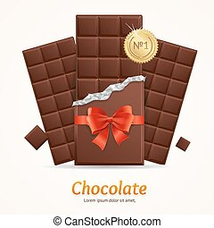 Vector Chocolate Package Bar Blank for Advertizing -...