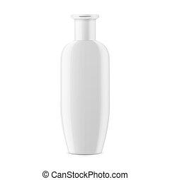 White shampoo bottle template. - White glossy plastic bottle...