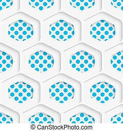 Seamless Hexagon Design. Futuristic Tile Pattern. 3d Elegant...