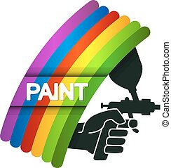 Spray for painting in hand