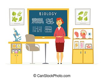 Biology Classroom - female teacher composition at the...