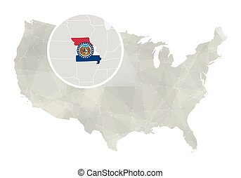 EPS Vectors Of Missouri State Map Csp Search Clip Art - Missouri state map usa