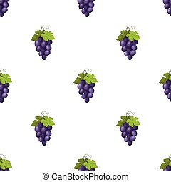 Bunch of wine grapes icon in cartoon style isolated on white...