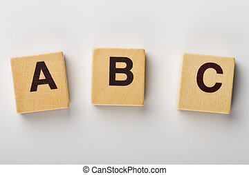 ABC - Wooden fridge magnets spelling ABC