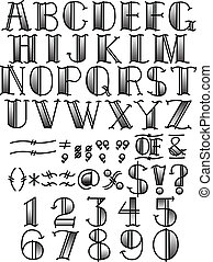 Tattoo Alphabet and Symbols B & W - Tattoo letters or...