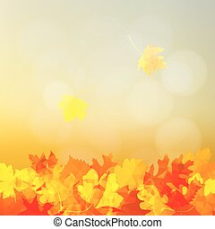 Bright autumn greeting card, invitation with colorful...