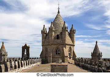 Evora Cathedral - Evora - Portugal - Rooftop of Evora...