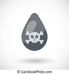 Toxic waste drop vector flat icon, Flat design of toxic,...