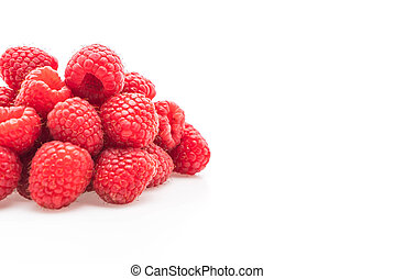 fresh rasberry on white background