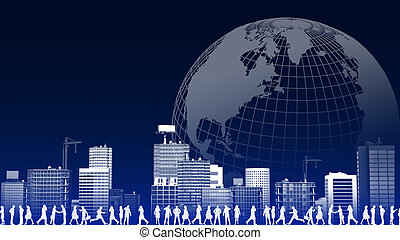 Global business Concept - A concept of global business...