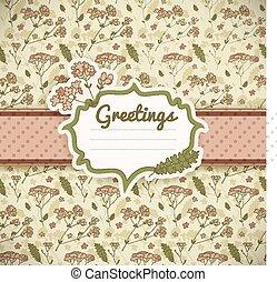 Vintage flowers card