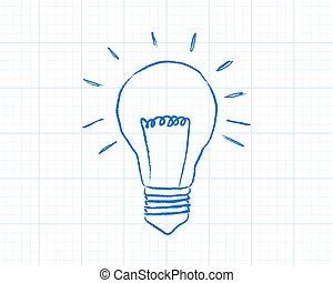 Light Bulb Graph Paper - Light bulb drawing on graph paper...