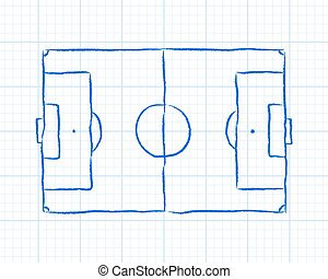 Soccer Pitch Graph Paper - Soccer football pitch diagram on...