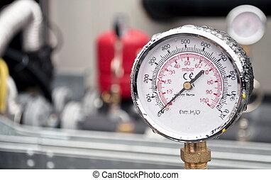 Industrial hydraulic barometer - Industrial hydraulic round...
