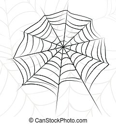 Vector spider web.