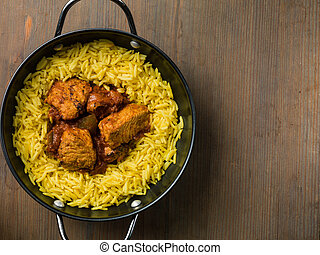 Chicken Curry With Pilau Rice - Chicken Jalfrezi Curry...