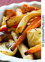 Roasted Vegetables - Roasted vegetables, including carrots,...