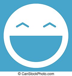 Laughing emoticon white