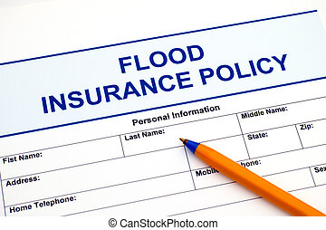Food insurance policy with pen.