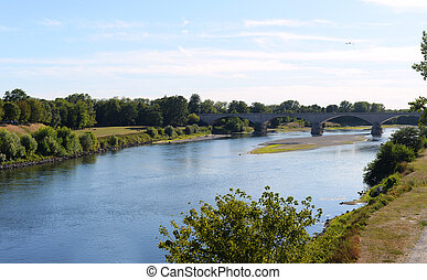 View over the Ticino River in Pavia - Summer view over the...