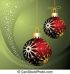 Christmas balls - Christmas decoration, two christmas balls...