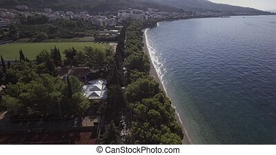 Tucepi aerial view - Aerial view of the town Tucepi beach on...