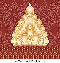 Abstract greeting card in oriental style. Vector...