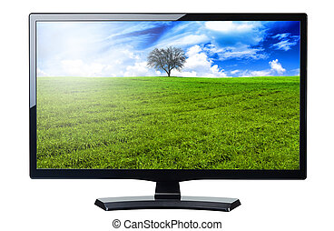 screen monitor tv isolated