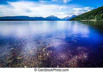 lake mcdonald in glacier national park montanaa