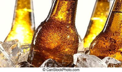 Festival of beer capacity are bottles of beer in the ice....
