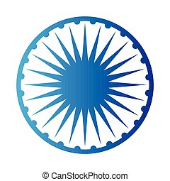 Emblem of the flag of India