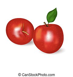 Realistic red apple