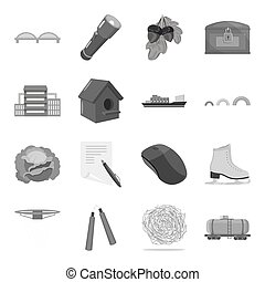 Vegetable, education, transport and other web icon in...
