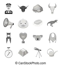 Taxi, animal, education and other web icon in monochrome...