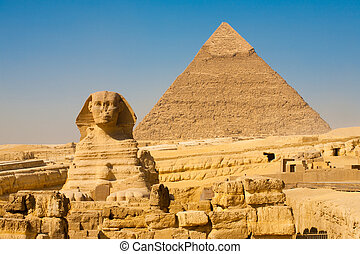 Sphinx Khafre Giza Pyramids Classic - The Sphinx and the...