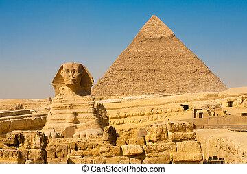 Sphinx Khafre Giza Pyramids Classic