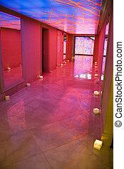Psychedelic Walkway - Image of a colourful modern walkway.
