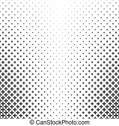 Monochrome pattern - abstract vector background graphic from curved geometric shapes