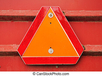 Slow Moving Vehicle Sign - Orange and Red Reflective Slow...