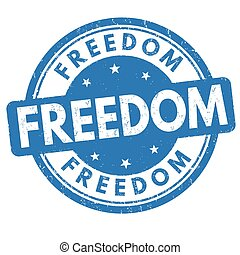 Freedom sign or stamp on white background, vector...