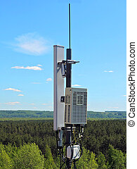 Cell phone antenna, transmitter. Telecom radio mobile...