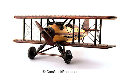 Model Bi-Plane - A model biplane in various shades of wood....