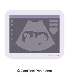 Obstetric ultrasound baby of fetus ecography scan vector...