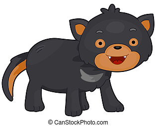 Tasmanian Devil - Illustration of a Tasmanian Devil with...