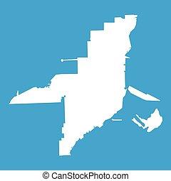 Florida map icon white
