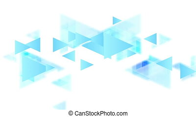 Tech minimal video animation with blue triangles - Tech...