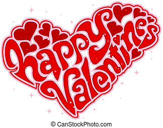 Valentines Day Text Design