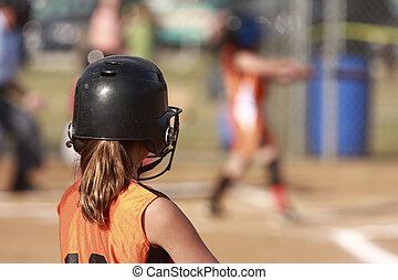 Softball players