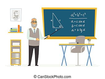 Geometry Classroom - male teacher composition at the...
